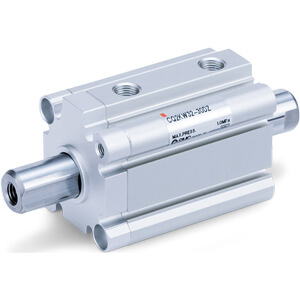 NC(D)Q2KW-Z, Compact Cylinder, Double Acting, Double Rod, Non-rotating-SMC